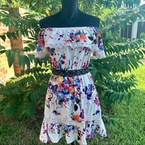 Umber Dress Floral Print